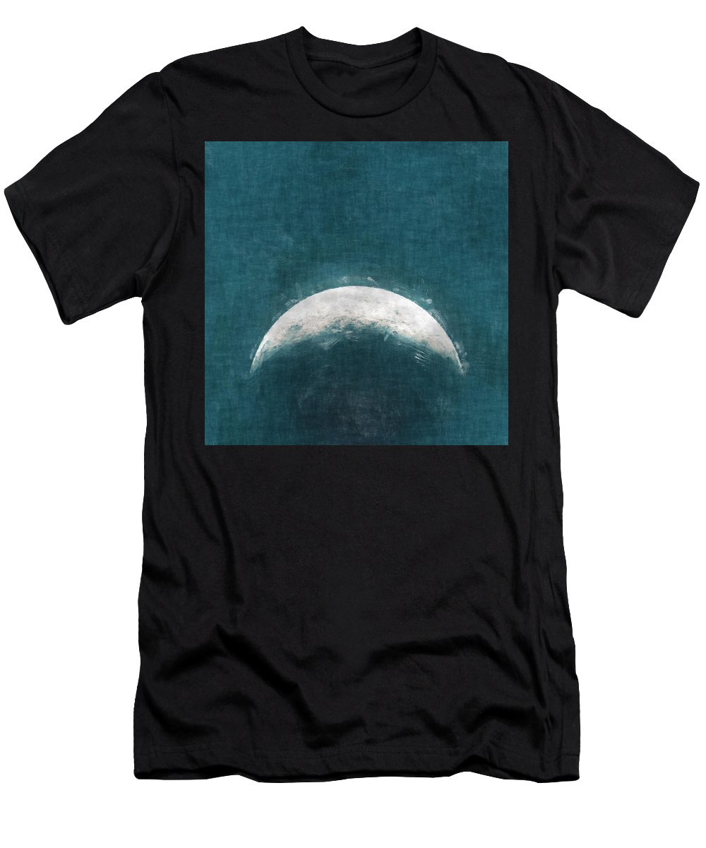 View Men's T-Shirt (Athletic Fit) featuring the painting Rise Up Moon by Kristian Leov