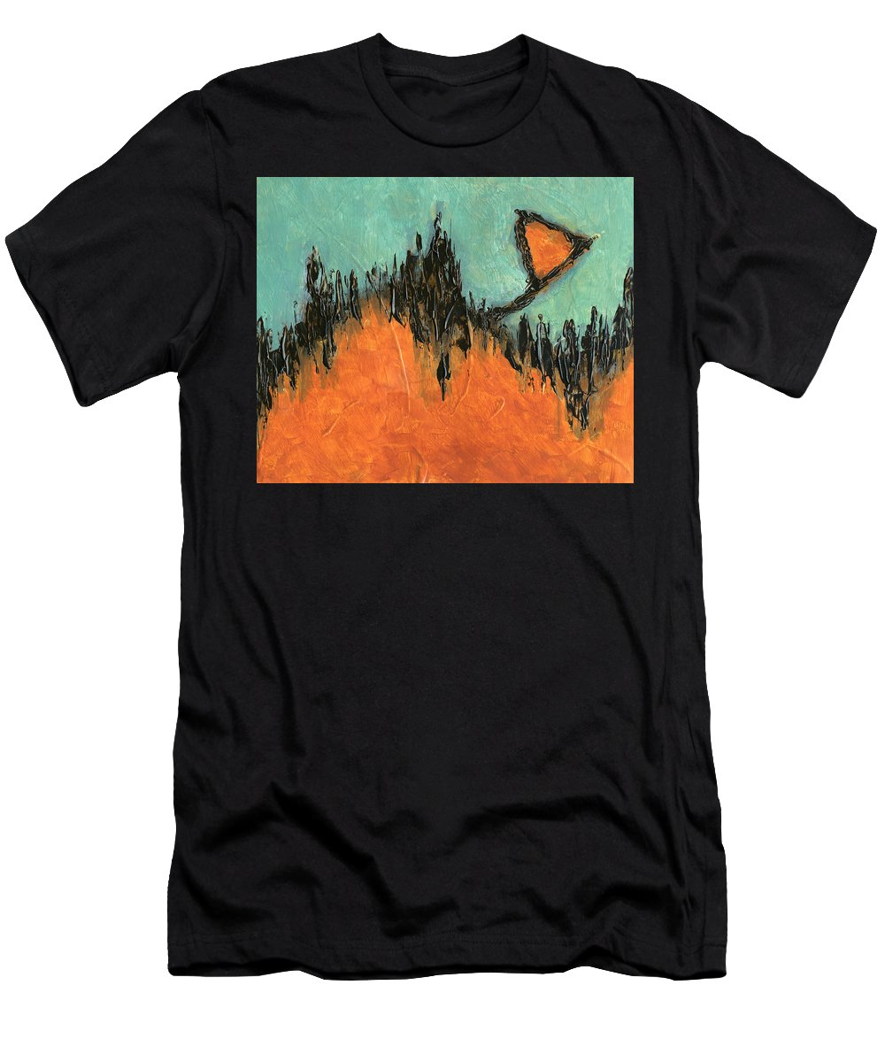 Abstract Men's T-Shirt (Athletic Fit) featuring the painting Rising Hope Abstract Art by Karla Beatty