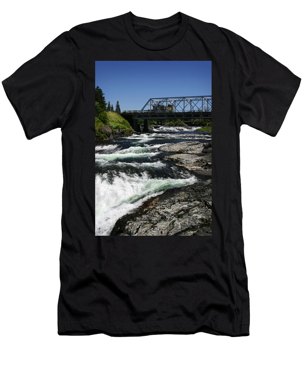 River Men's T-Shirt (Athletic Fit) featuring the photograph River Bridge by Anthony Jones