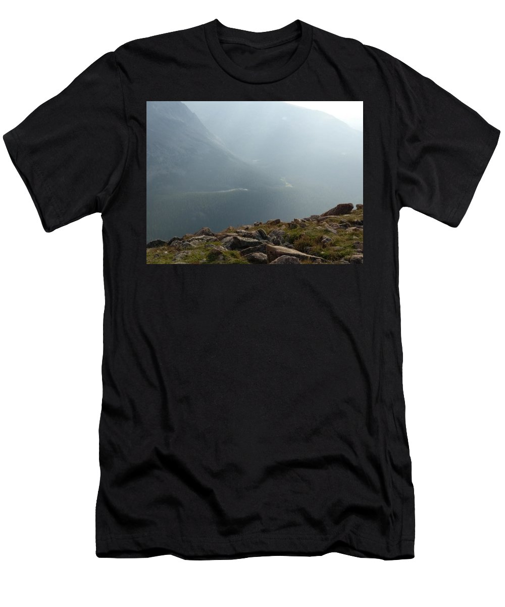Landscape Men's T-Shirt (Athletic Fit) featuring the photograph River In The Valley by Lesli Sherwin
