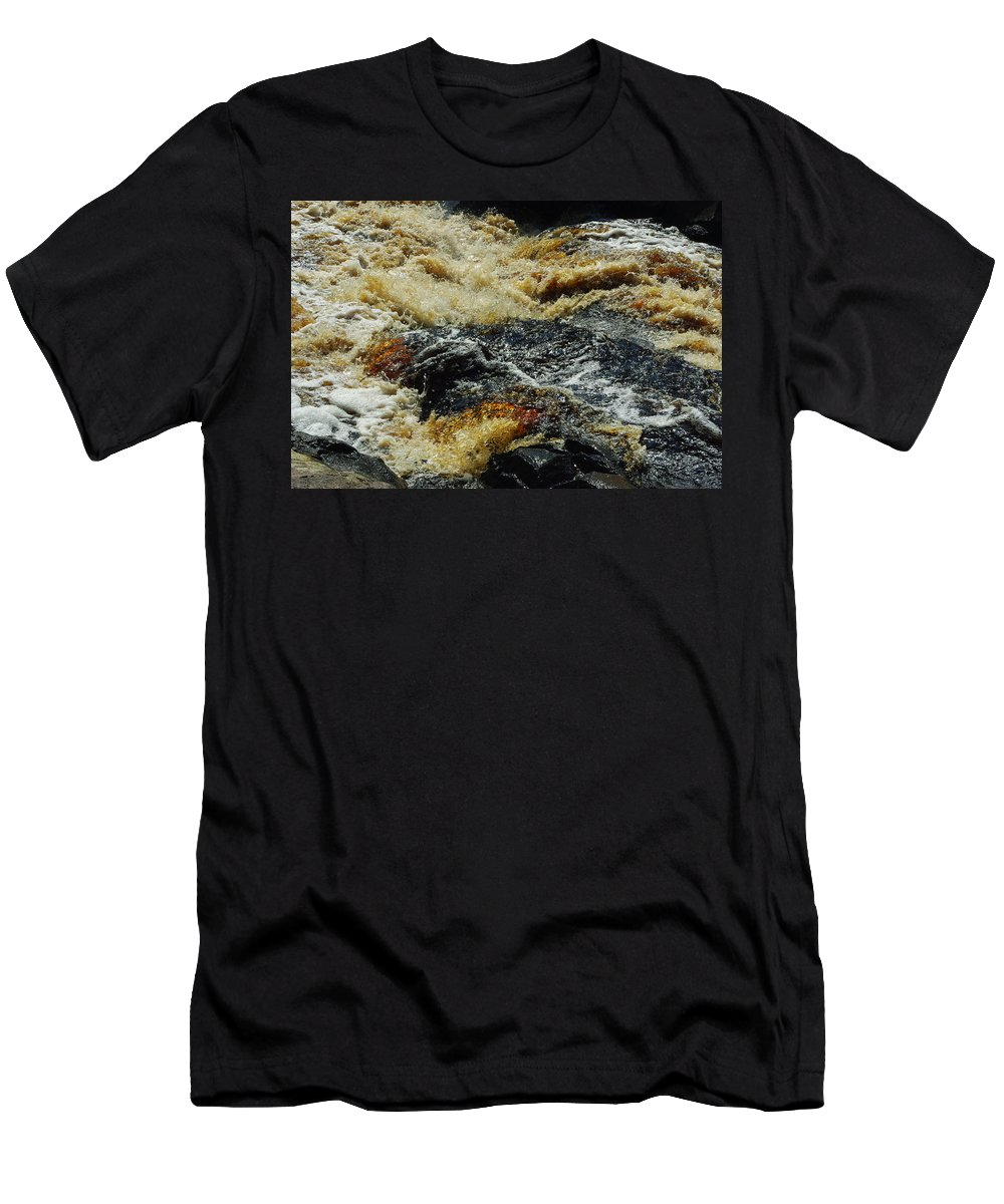 River Men's T-Shirt (Athletic Fit) featuring the photograph River On The Rocks by Alice Markham