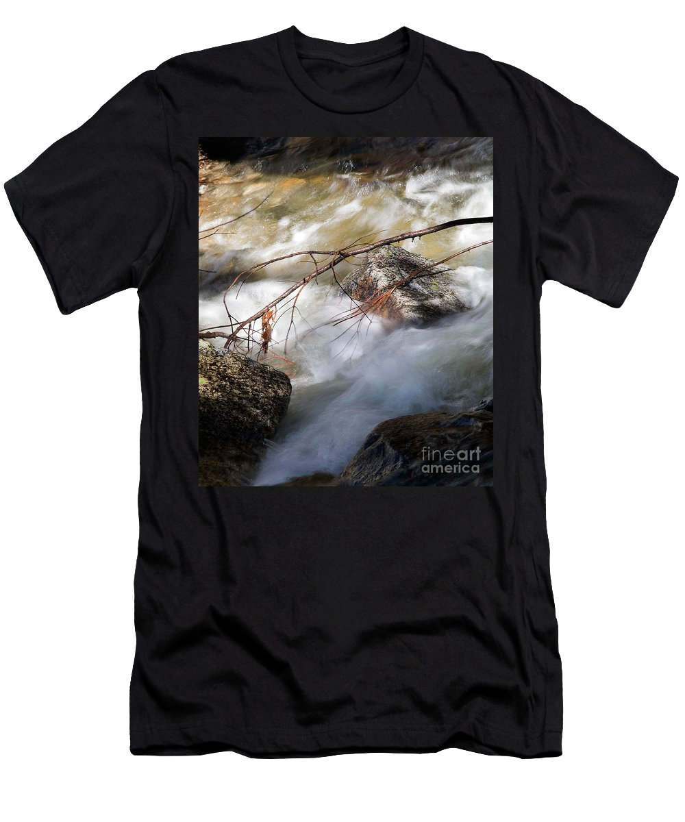 California Men's T-Shirt (Athletic Fit) featuring the photograph River Rapids by Norman Andrus