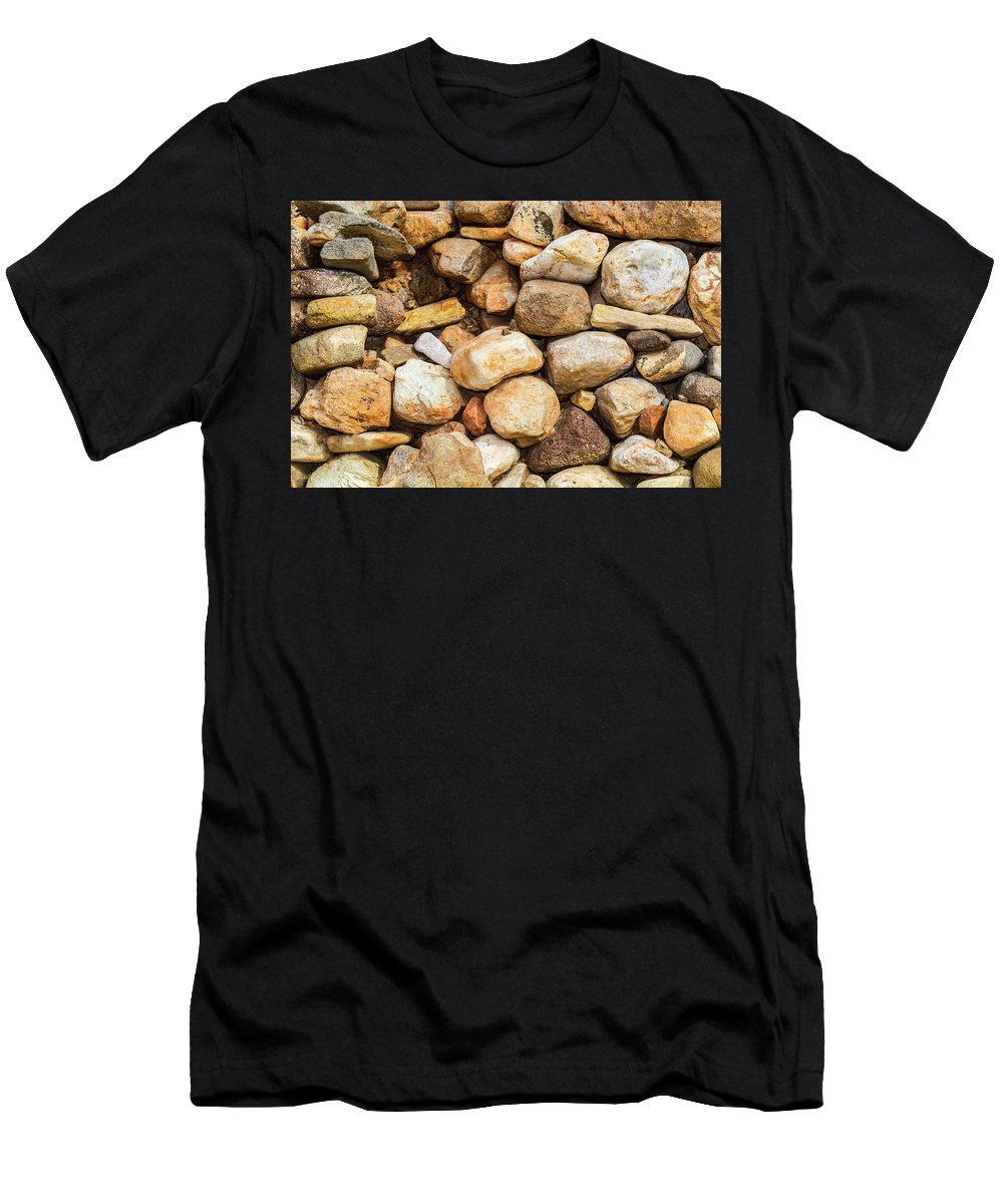Rio Grande Men's T-Shirt (Athletic Fit) featuring the photograph River Stones by SR Green