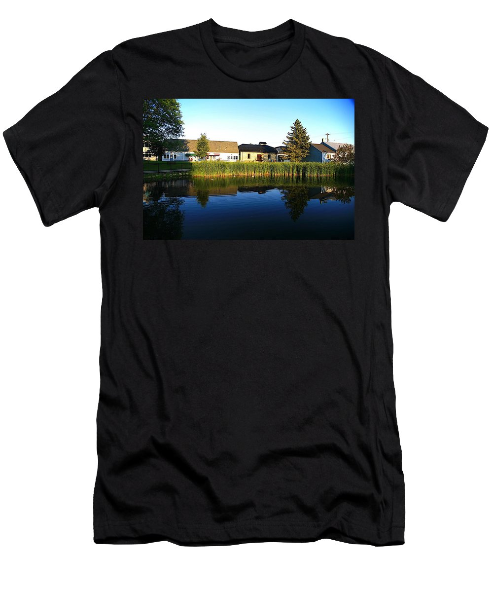 Places Men's T-Shirt (Athletic Fit) featuring the photograph Rockford Mi-4 by Robert Pearson