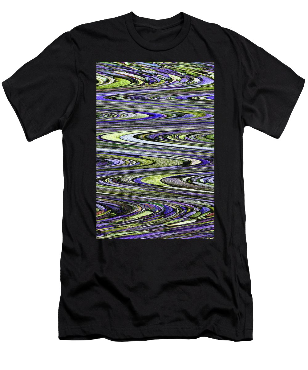 Rocks On Beach Abstract Men's T-Shirt (Athletic Fit) featuring the photograph Rocks On Beach Abstract by Tom Janca
