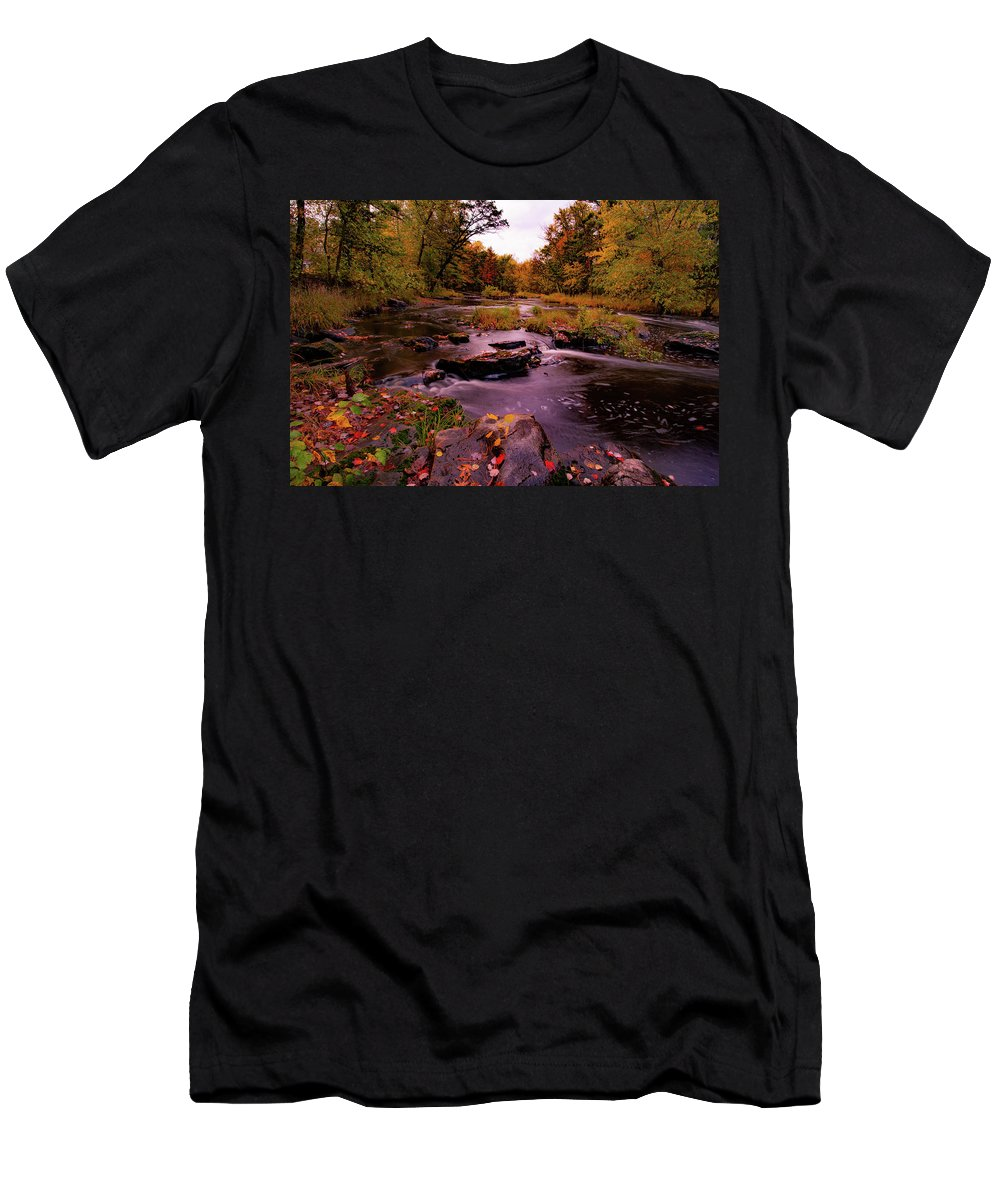 Print Men's T-Shirt (Athletic Fit) featuring the photograph Rocky Run Creek by Neal Nealis