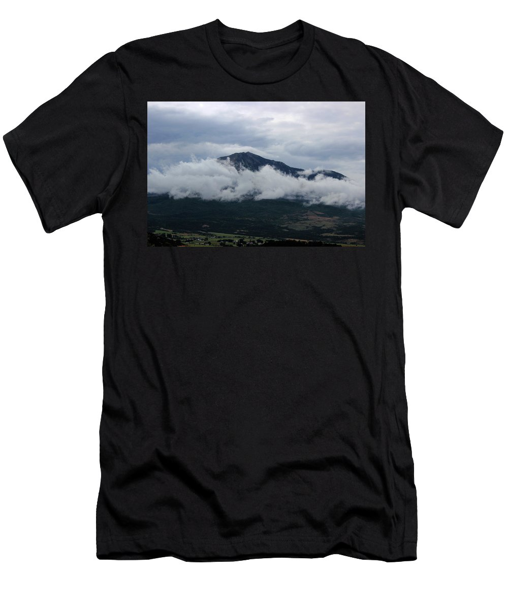 Mountain Men's T-Shirt (Athletic Fit) featuring the photograph Rocky Top by Samantha Burrow