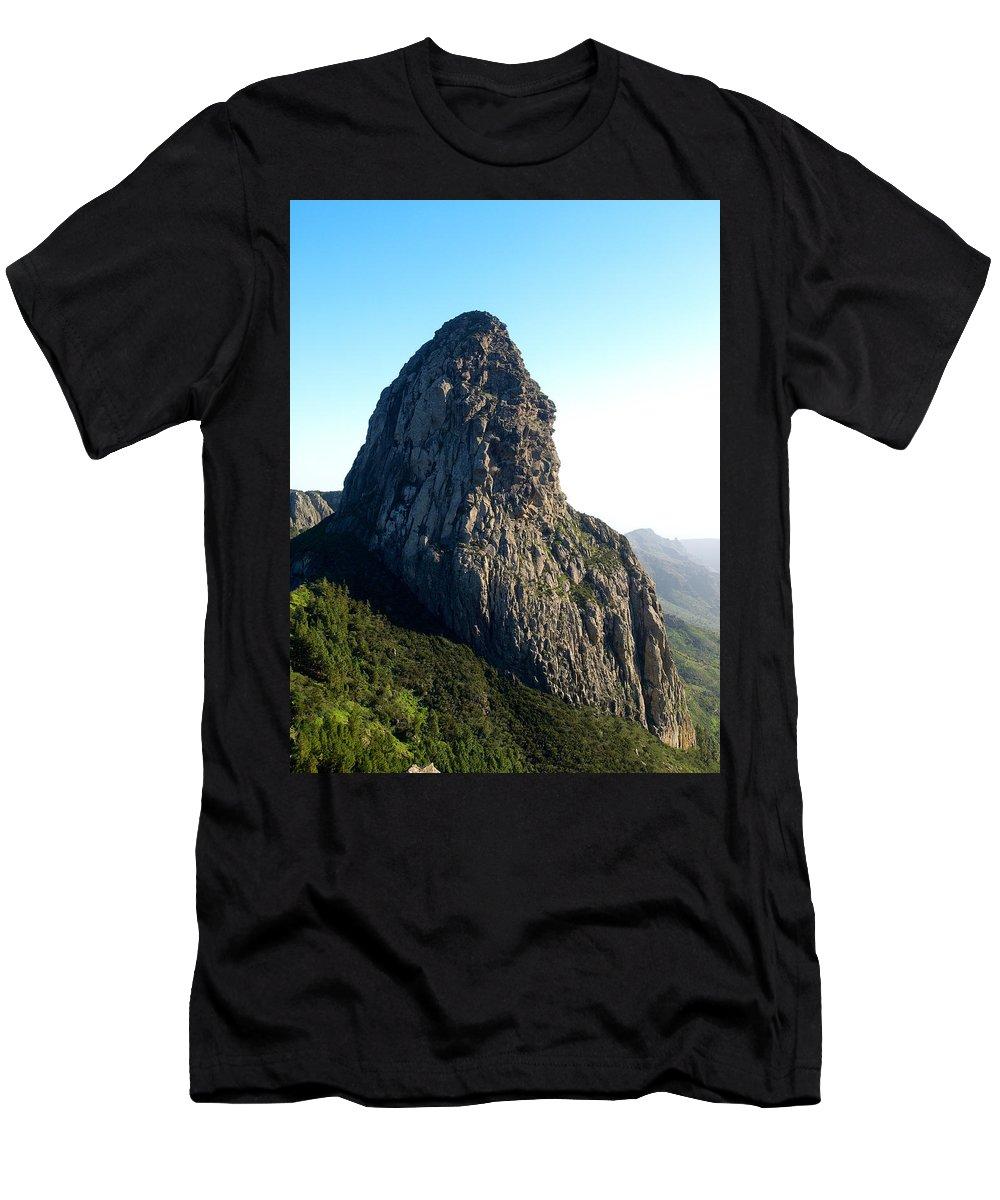 La Gomera Men's T-Shirt (Athletic Fit) featuring the photograph Rogue De Agando 2 by Jouko Lehto