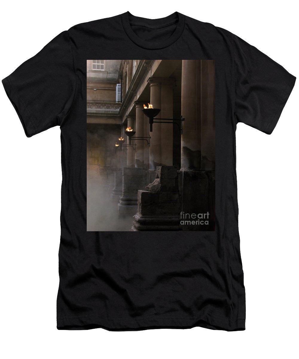 Bath Men's T-Shirt (Athletic Fit) featuring the photograph Roman Baths by Amanda Barcon