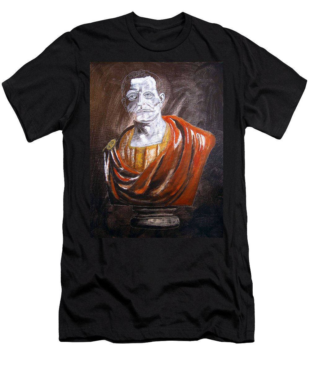 Roman Emperor Men's T-Shirt (Athletic Fit) featuring the painting Roman Emperor by Richard Le Page
