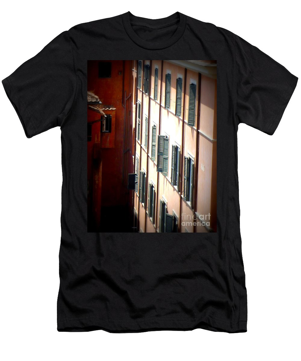 Rome Men's T-Shirt (Athletic Fit) featuring the photograph Roman Windows by Carol Groenen