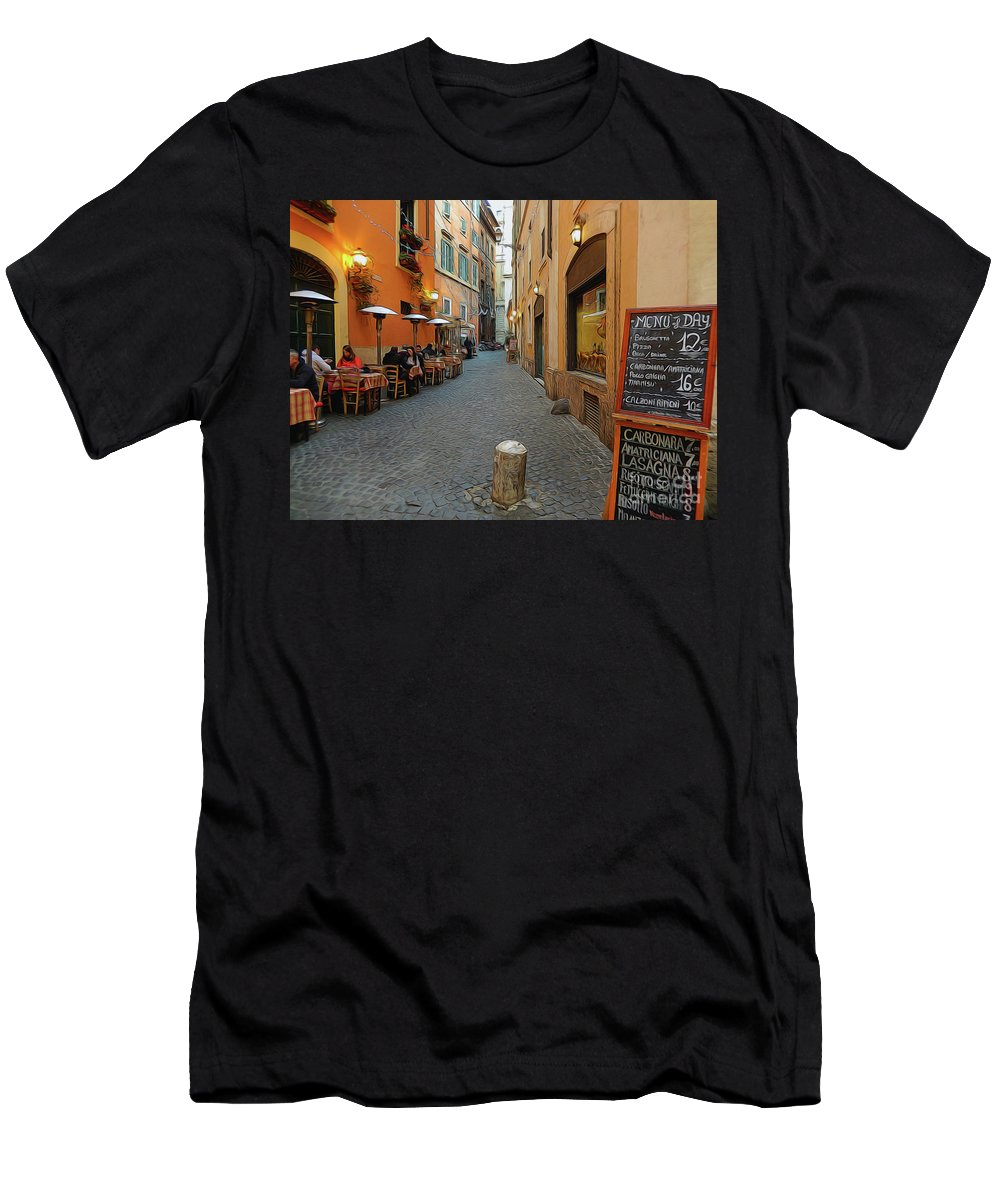 Photoart Men's T-Shirt (Athletic Fit) featuring the digital art Romance by Christopher Saleh