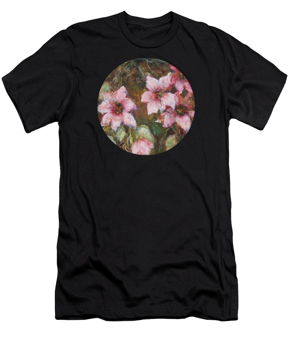 Floral Men's T-Shirt (Athletic Fit) featuring the painting Romance by Mary Wolf
