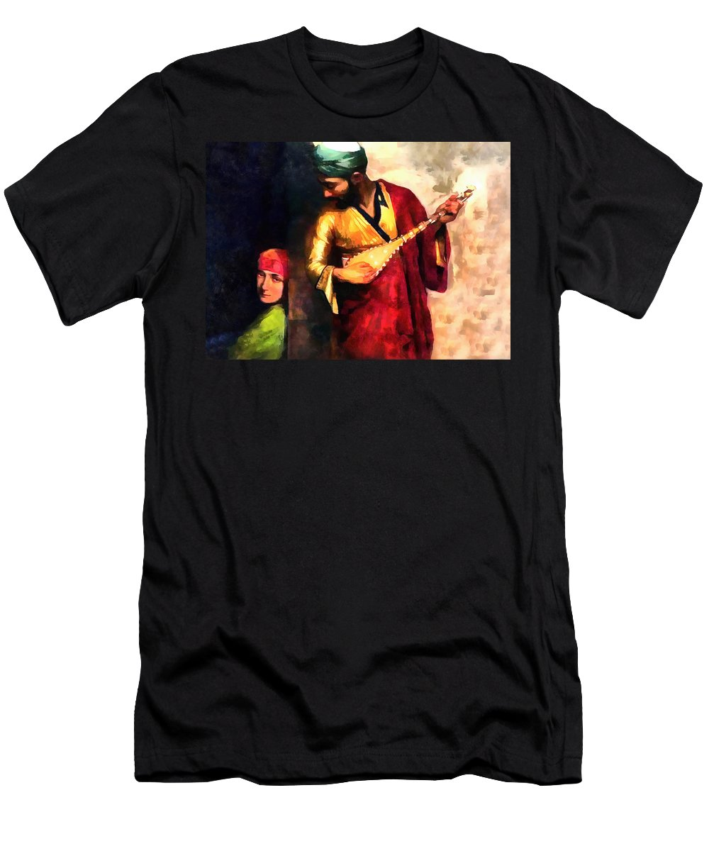 Orient Men's T-Shirt (Athletic Fit) featuring the photograph Romance by Munir Alawi