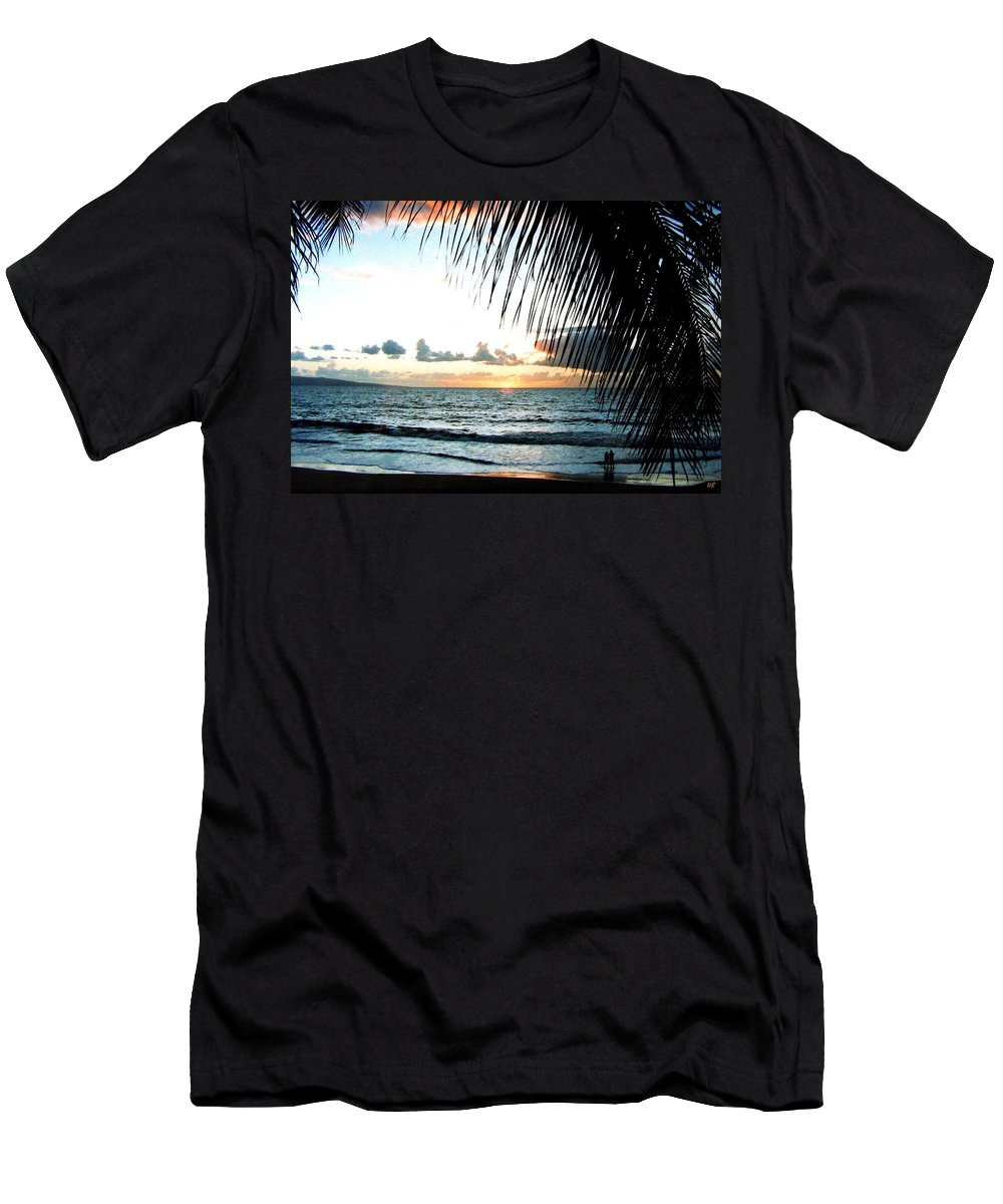 1986 Men's T-Shirt (Athletic Fit) featuring the photograph Romantic Sunset by Will Borden