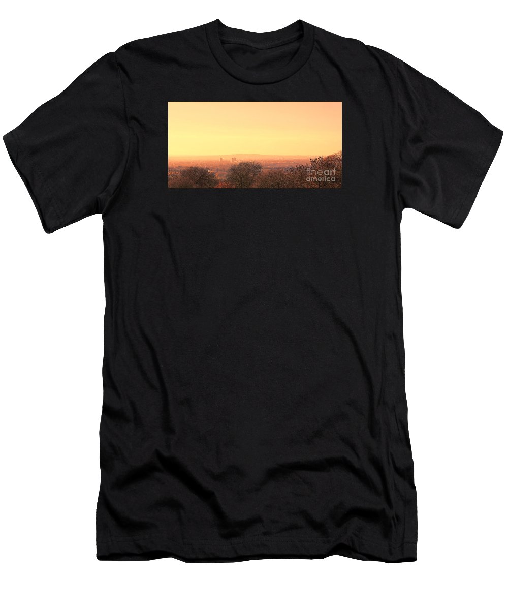 Romford Men's T-Shirt (Athletic Fit) featuring the photograph Romford by Roger Lighterness