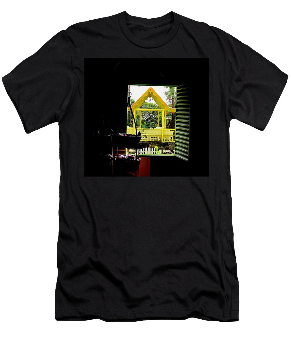 Romney Men's T-Shirt (Athletic Fit) featuring the photograph Romney Manor by Ian MacDonald
