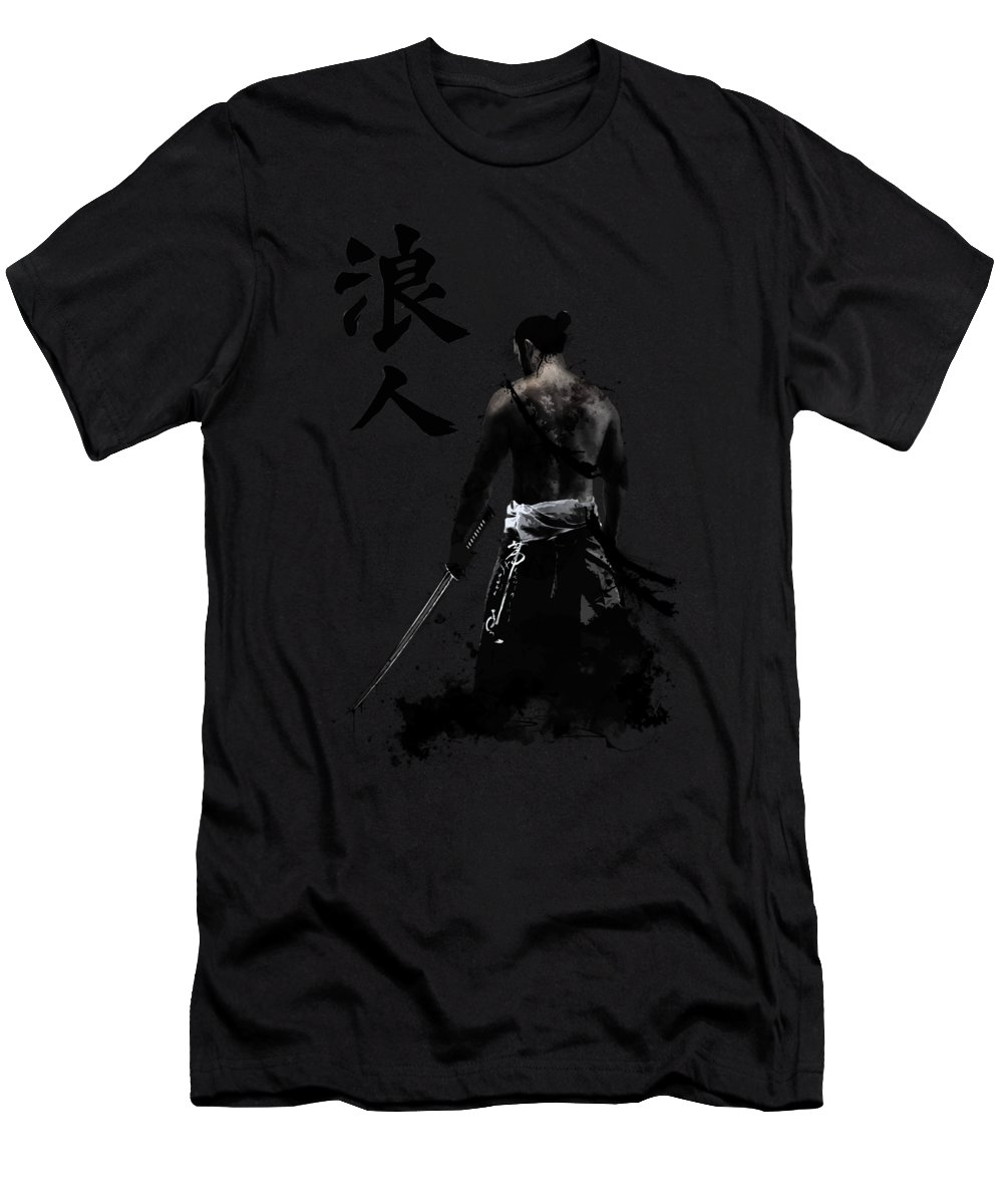 Japan Men's T-Shirt (Athletic Fit) featuring the digital art Ronin by Nicklas Gustafsson