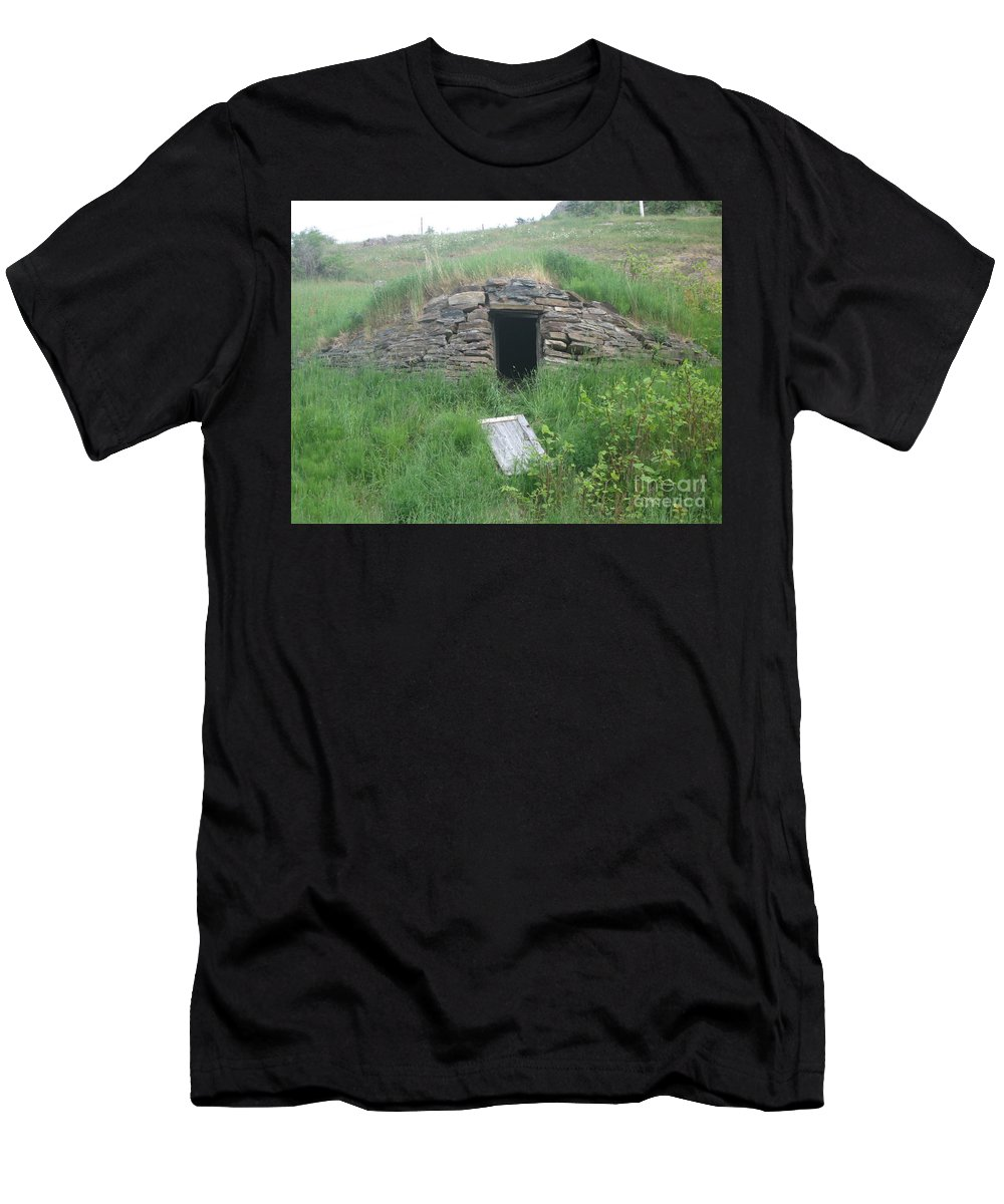 Photograph Cellar Old Green Newfoundland Men's T-Shirt (Athletic Fit) featuring the photograph Root Cellar by Seon-Jeong Kim