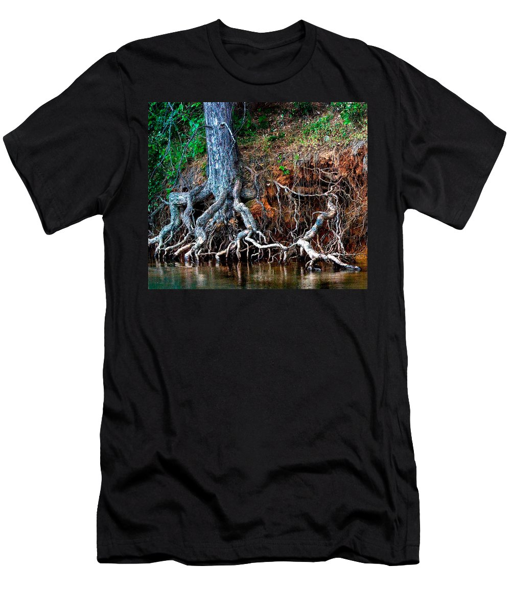 California Nature Men's T-Shirt (Athletic Fit) featuring the photograph Rooting Section by Norman Andrus