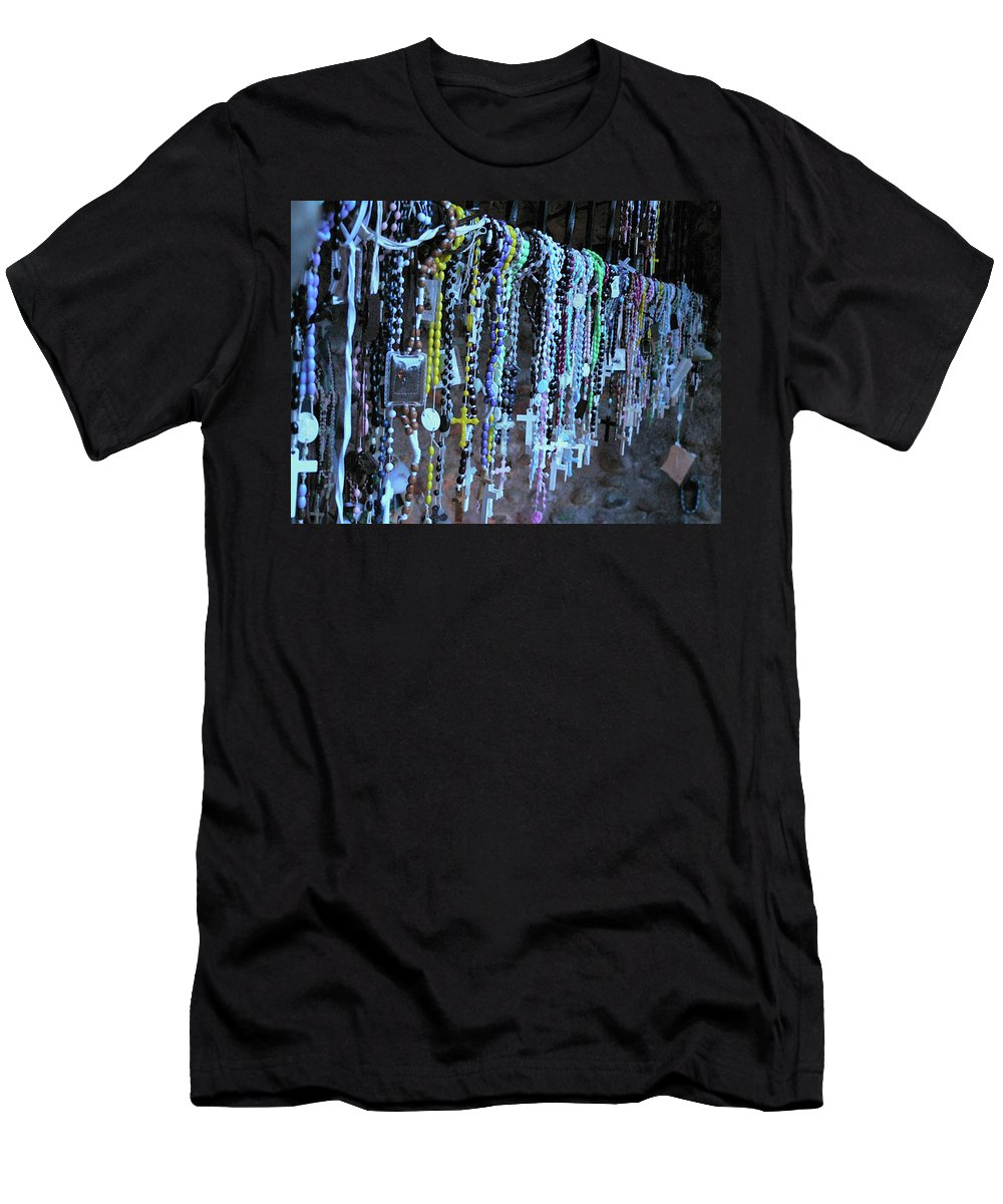 Rosary Men's T-Shirt (Athletic Fit) featuring the photograph Rosary by Angela Wright