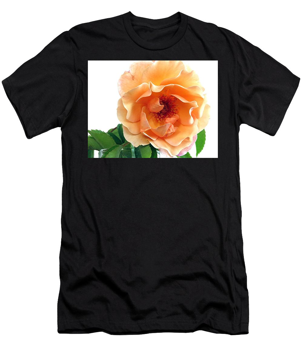 Flowers Men's T-Shirt (Athletic Fit) featuring the photograph Rose by Barron Holland