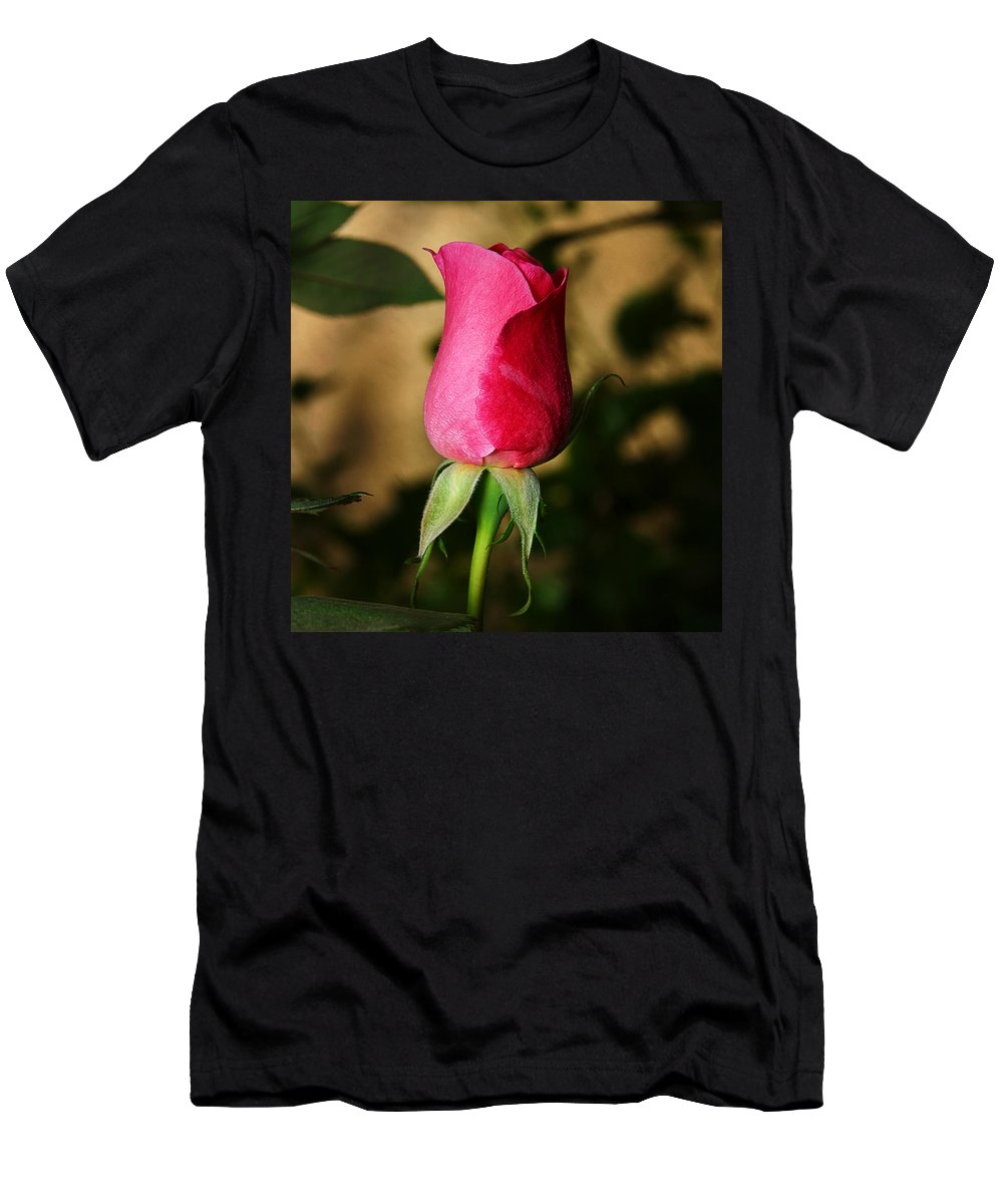 Rose Men's T-Shirt (Athletic Fit) featuring the photograph Rose Bud by Anthony Jones
