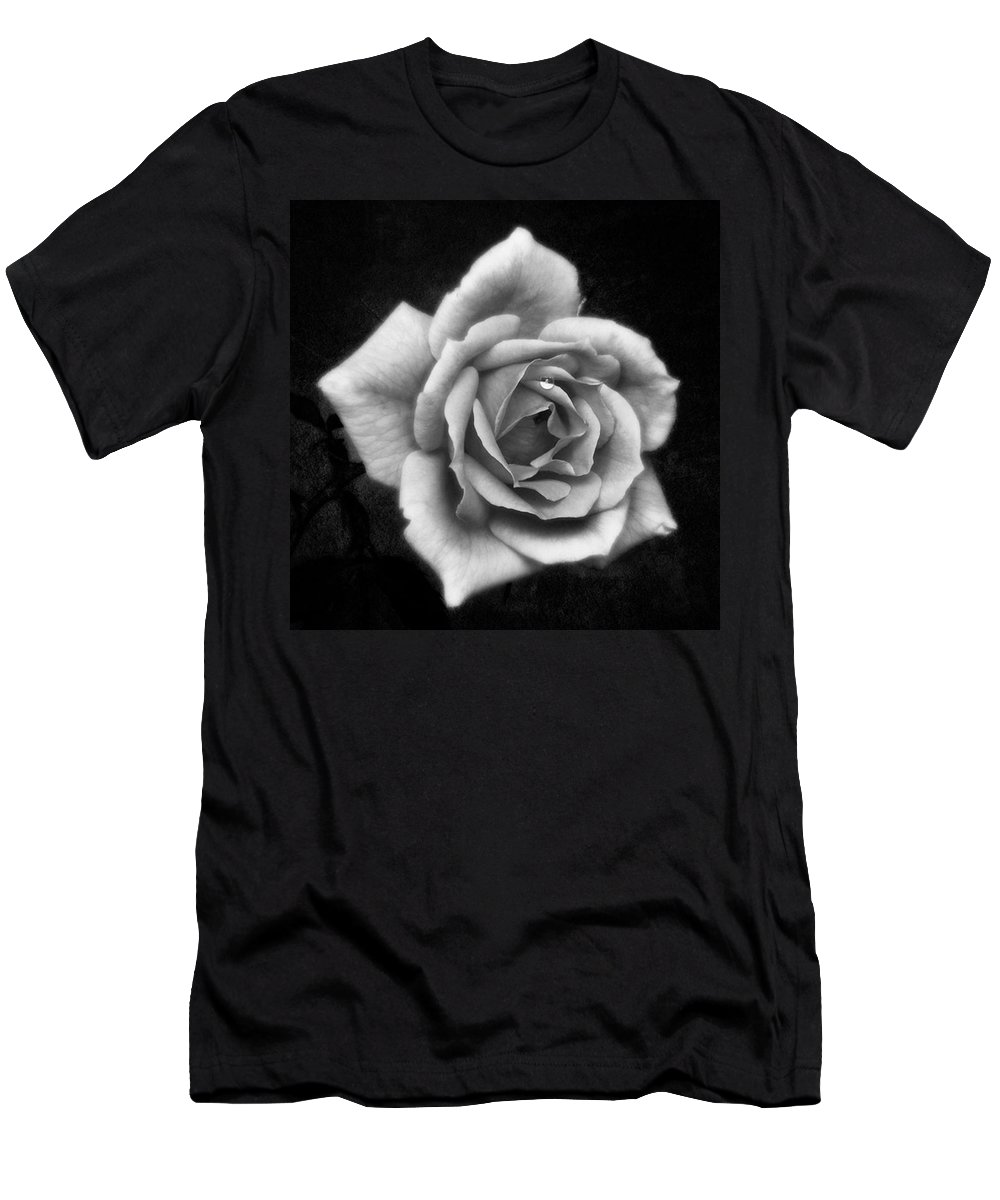 Beautiful T-Shirt featuring the photograph Rose In Mono. #flower #flowers by John Edwards