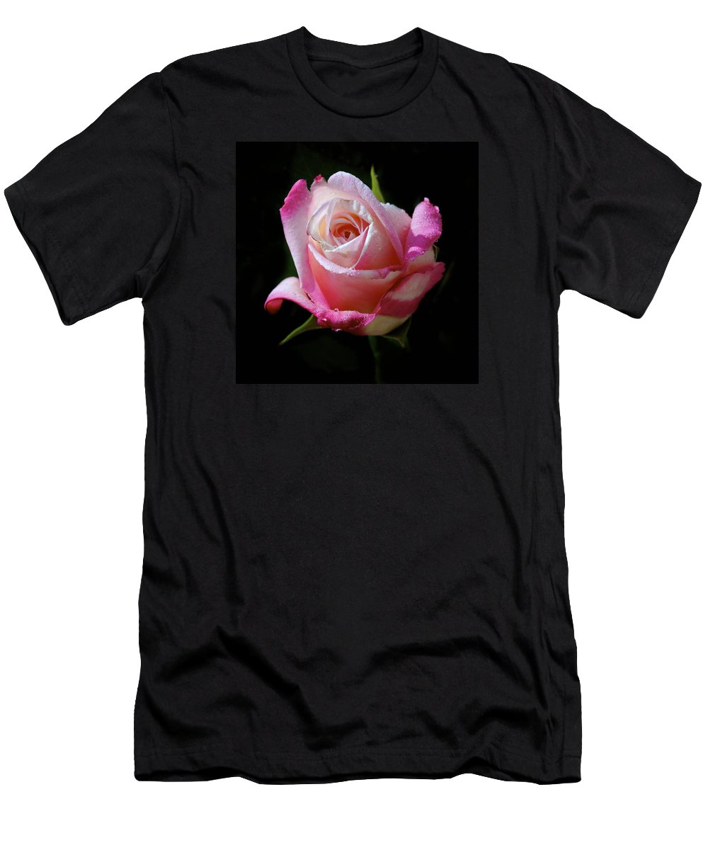 Rose Men's T-Shirt (Athletic Fit) featuring the photograph Rose Photo by Joyce Sherwin