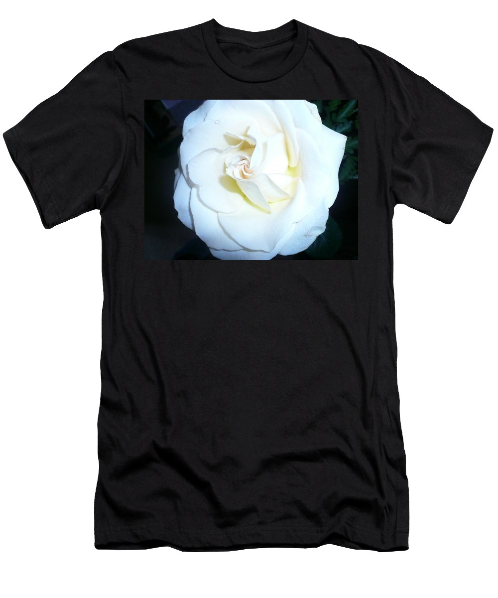 Rose Study Men's T-Shirt (Athletic Fit) featuring the photograph Rose Study 2 by Connie Young