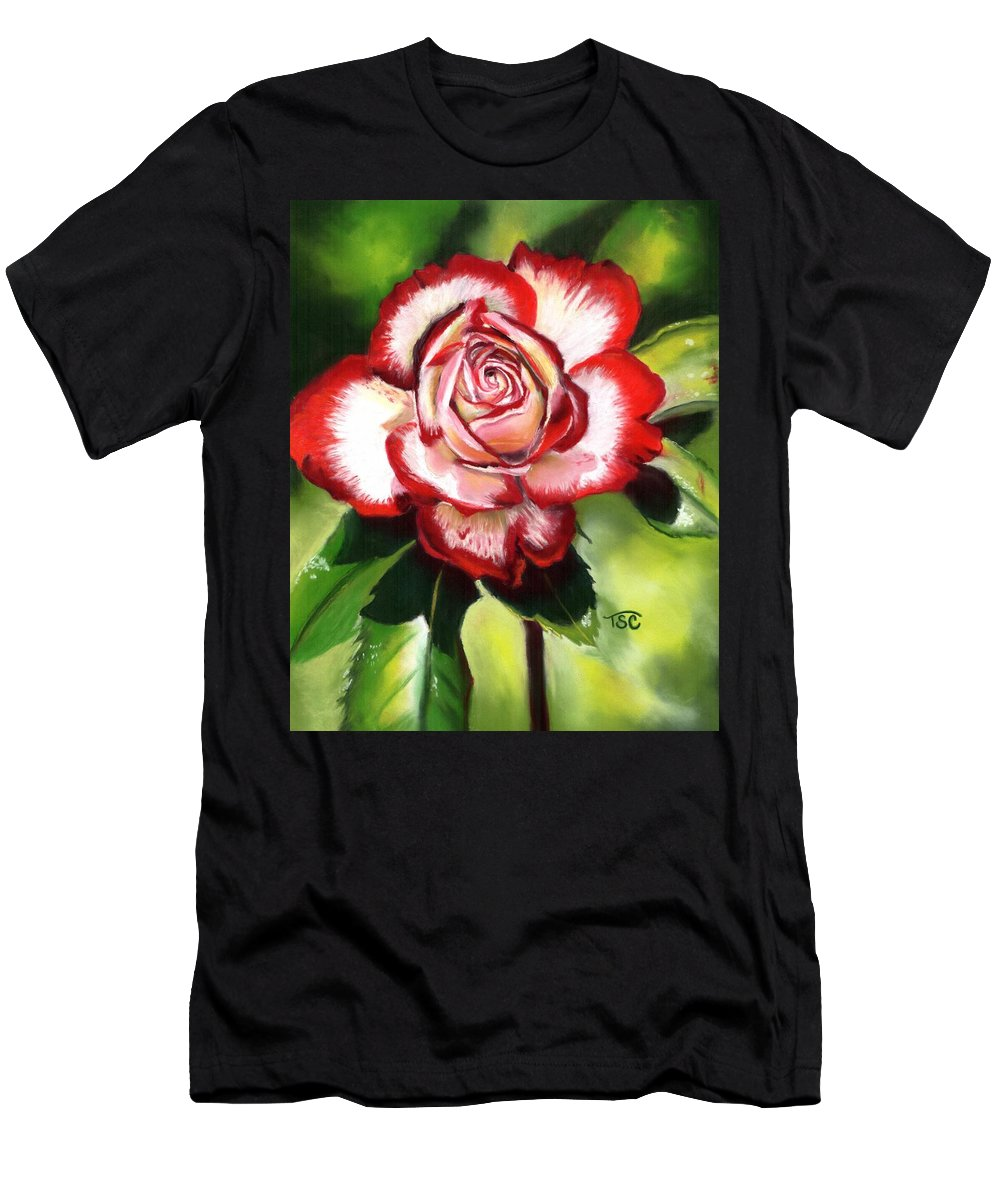 Rose Men's T-Shirt (Athletic Fit) featuring the painting Rose by Tammy Crawford