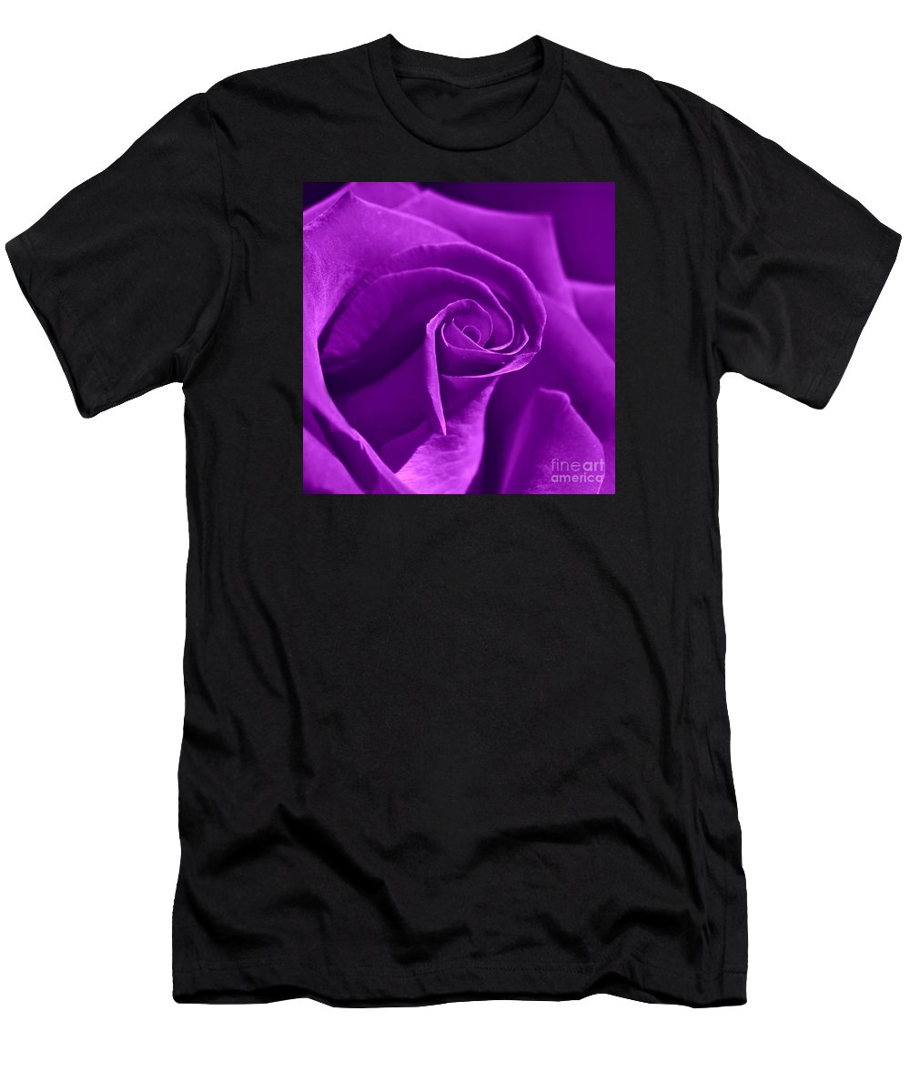 Birthday Men's T-Shirt (Athletic Fit) featuring the photograph Rose Violet by Violetta Honkisz