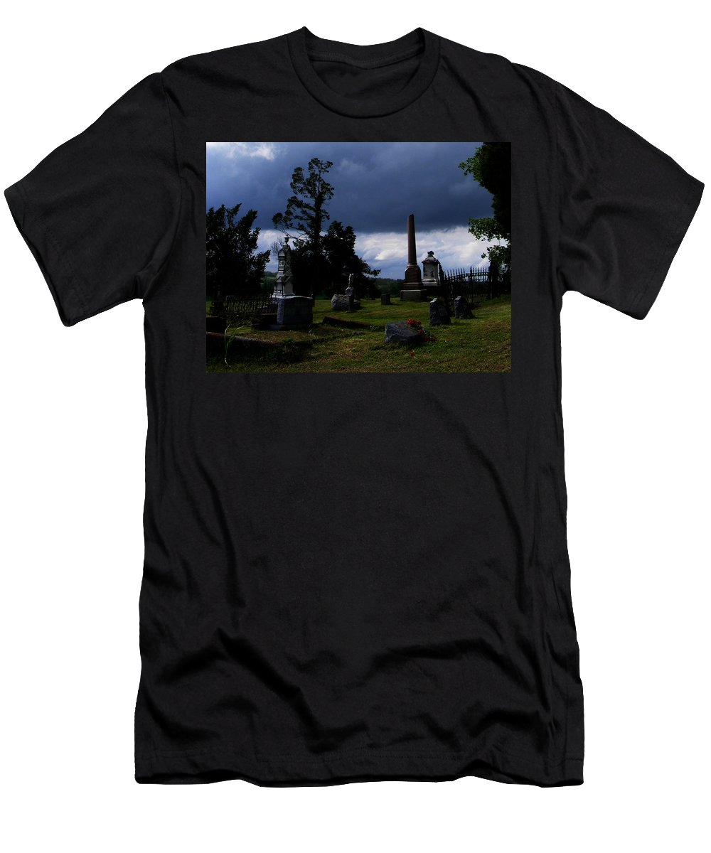 Landscape Men's T-Shirt (Athletic Fit) featuring the photograph Roses After The Storm by Rachel Christine Nowicki
