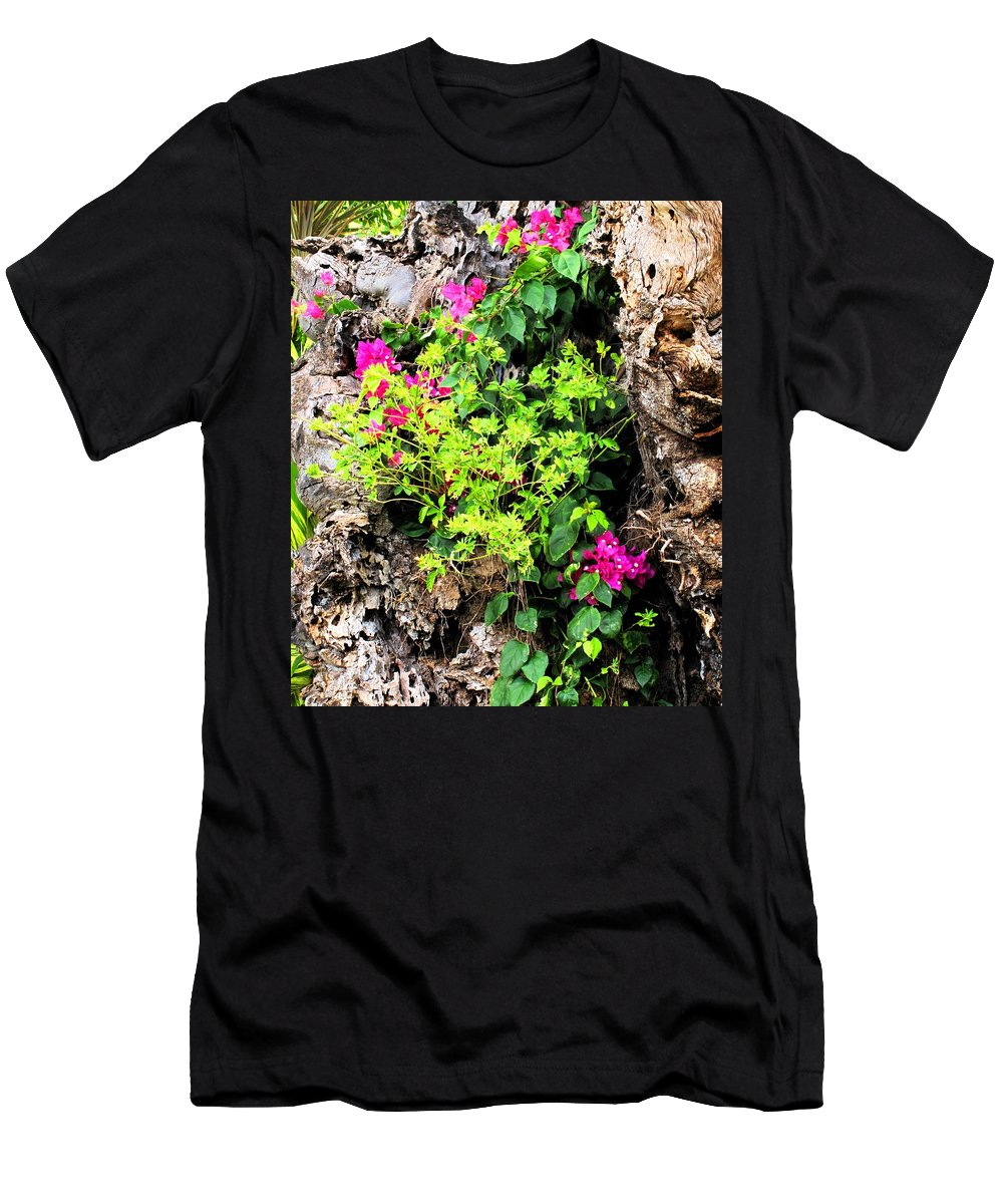Flowers Men's T-Shirt (Athletic Fit) featuring the photograph Rough Beauty by Ian MacDonald