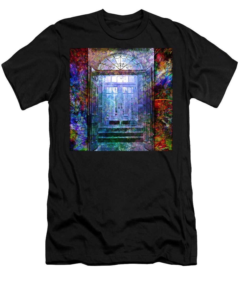 Arch Men's T-Shirt (Athletic Fit) featuring the digital art Rounded Doors by Barbara Berney