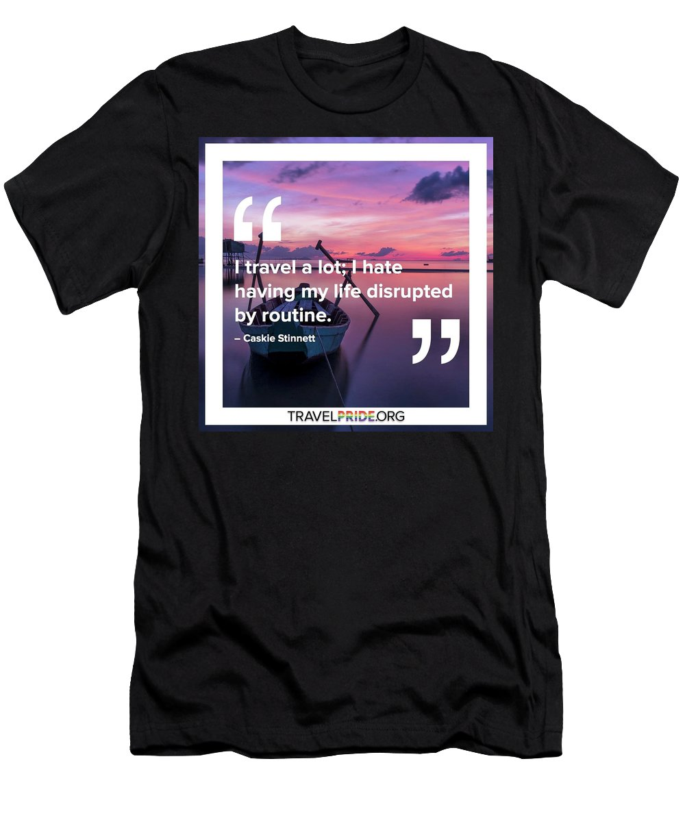 Travel Men's T-Shirt (Athletic Fit) featuring the digital art Routine by Travel Pride