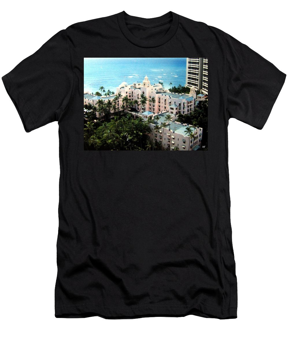 1986 Men's T-Shirt (Athletic Fit) featuring the photograph Royal Hawaiian Hotel by Will Borden
