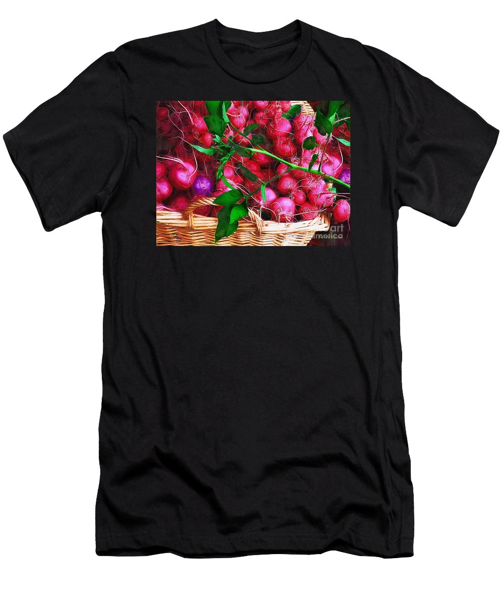 Radishes Men's T-Shirt (Athletic Fit) featuring the painting Rubies Organic by RC DeWinter