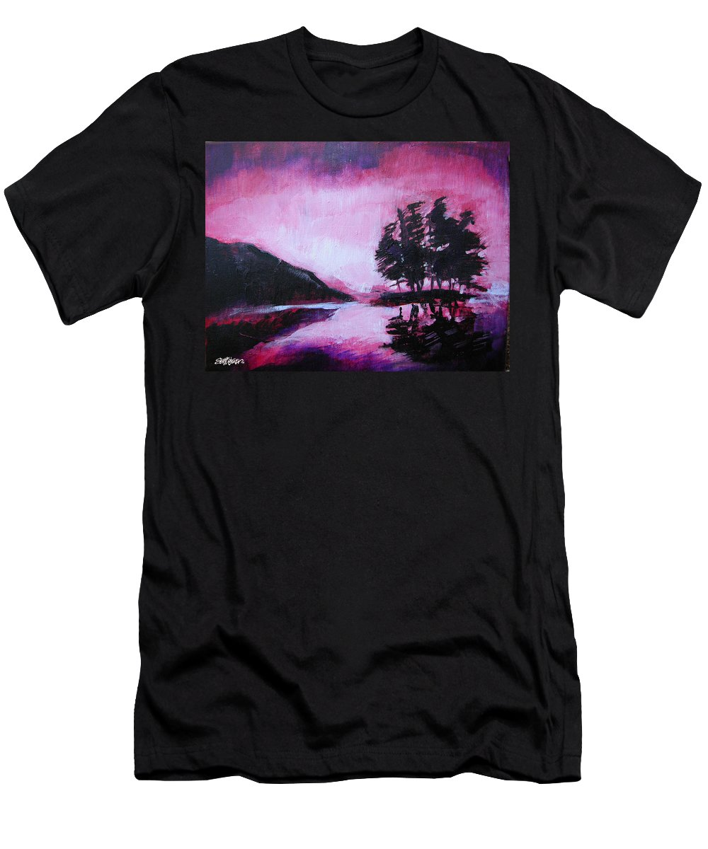 Ruby Dawn Men's T-Shirt (Athletic Fit) featuring the painting Ruby Dawn by Seth Weaver
