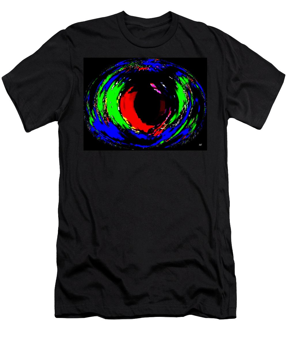 Abstract Men's T-Shirt (Athletic Fit) featuring the digital art Ruby Eye by Will Borden