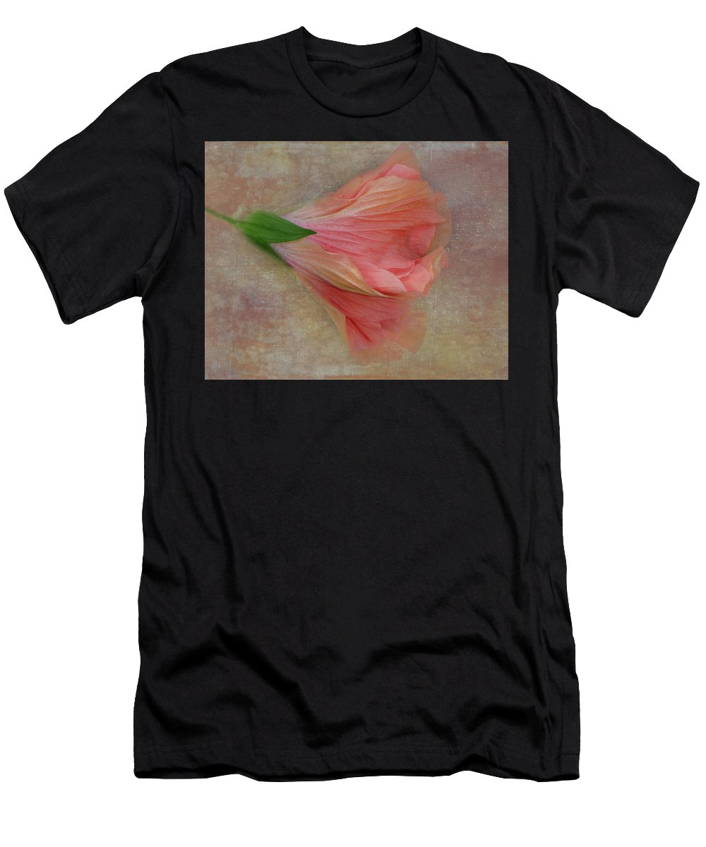 Hibiscus Men's T-Shirt (Athletic Fit) featuring the photograph Ruffled Petals by Judy Hall-Folde