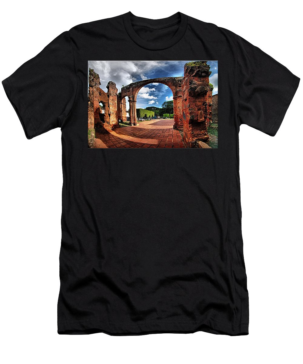 Men's T-Shirt (Athletic Fit) featuring the photograph Ruinas En Altagracia by Galeria Trompiz