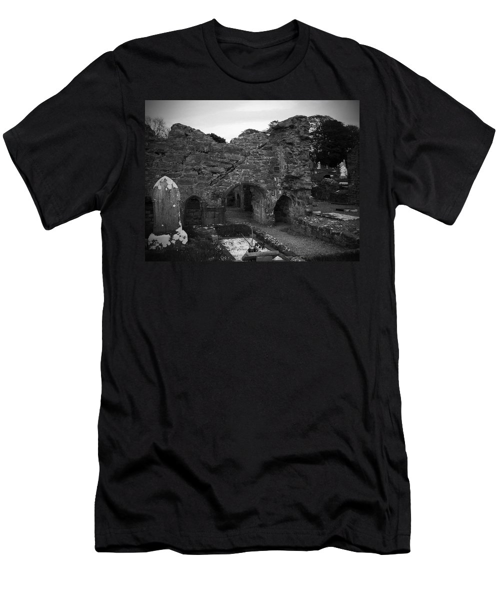 Irish Men's T-Shirt (Athletic Fit) featuring the photograph Ruins At Donegal Abbey Donegal Ireland by Teresa Mucha