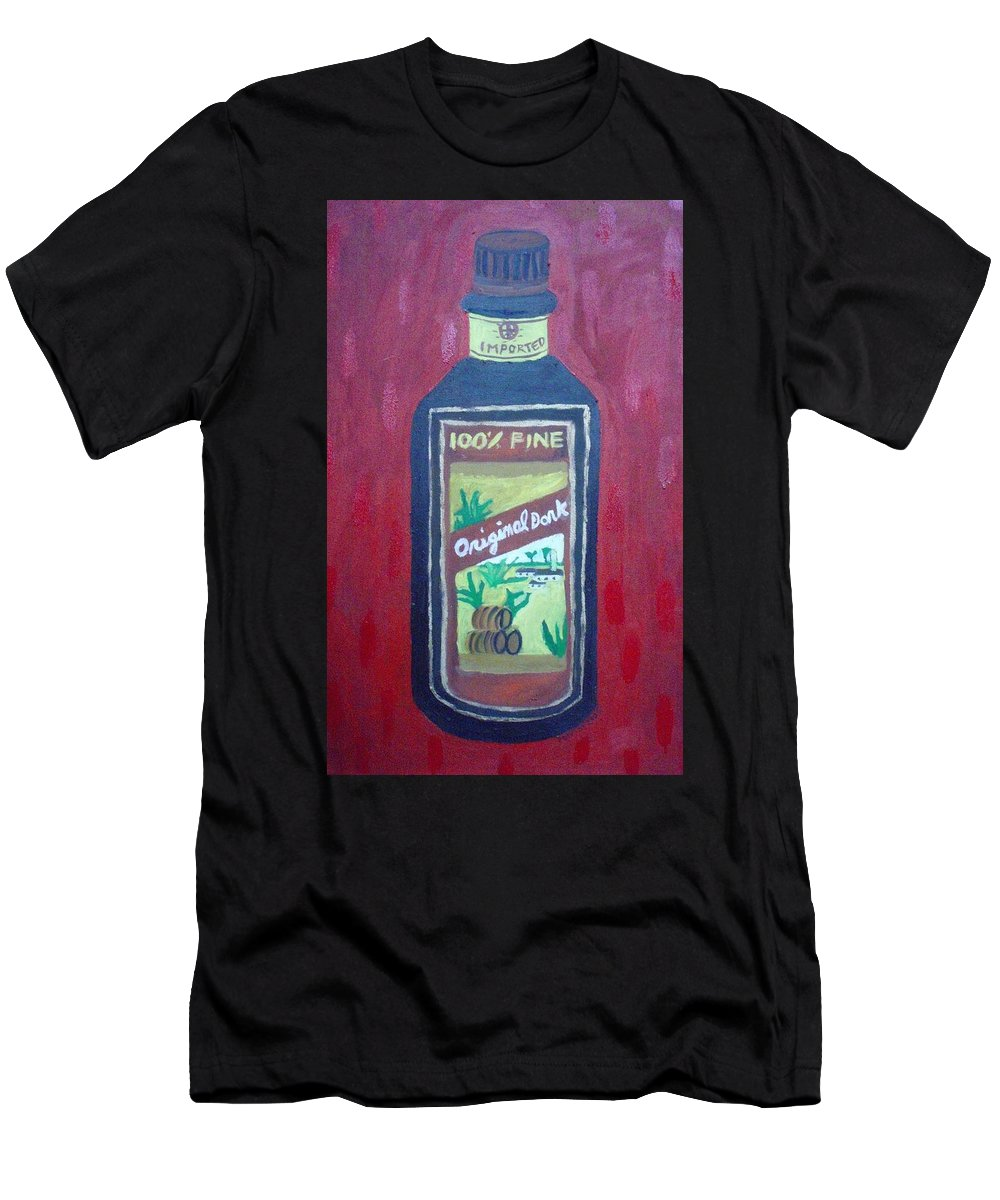 Oil On Canvas Men's T-Shirt (Athletic Fit) featuring the painting Rum by Patrice Tullai
