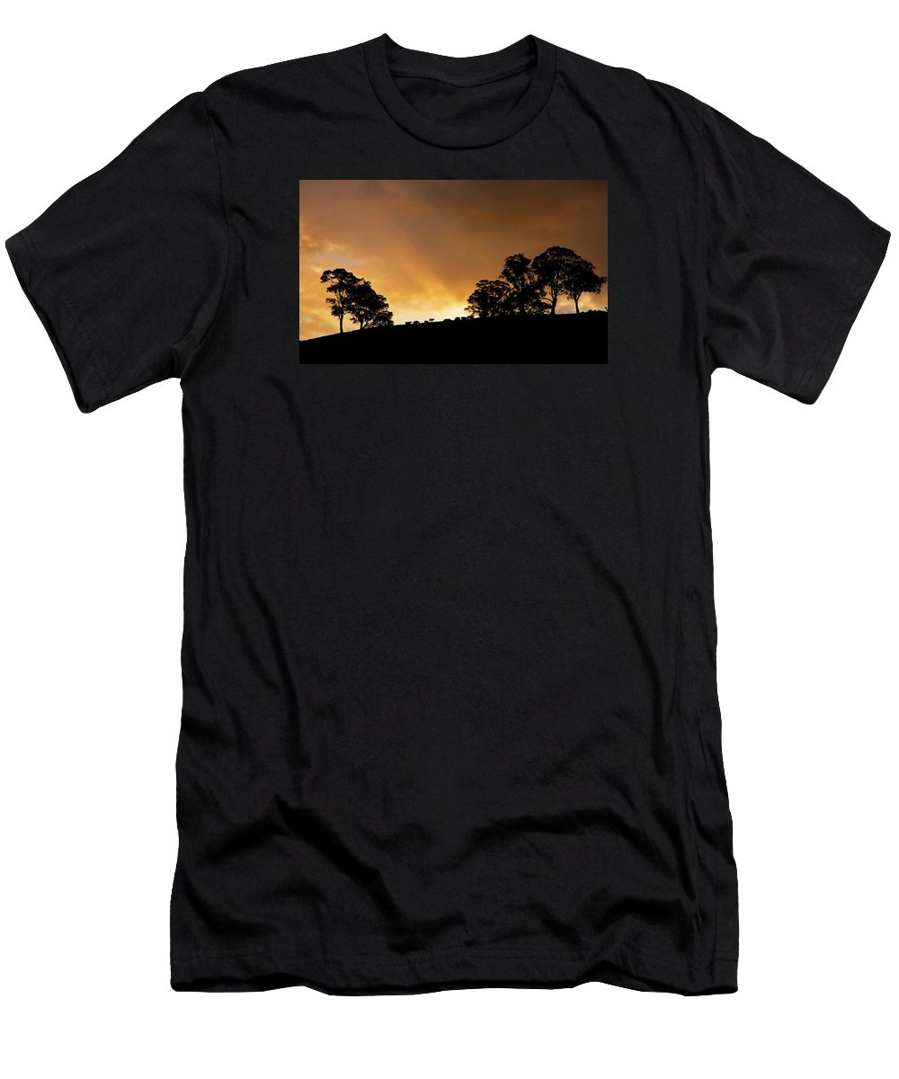 Sunset Men's T-Shirt (Athletic Fit) featuring the photograph Rural Glory by Mike Dawson