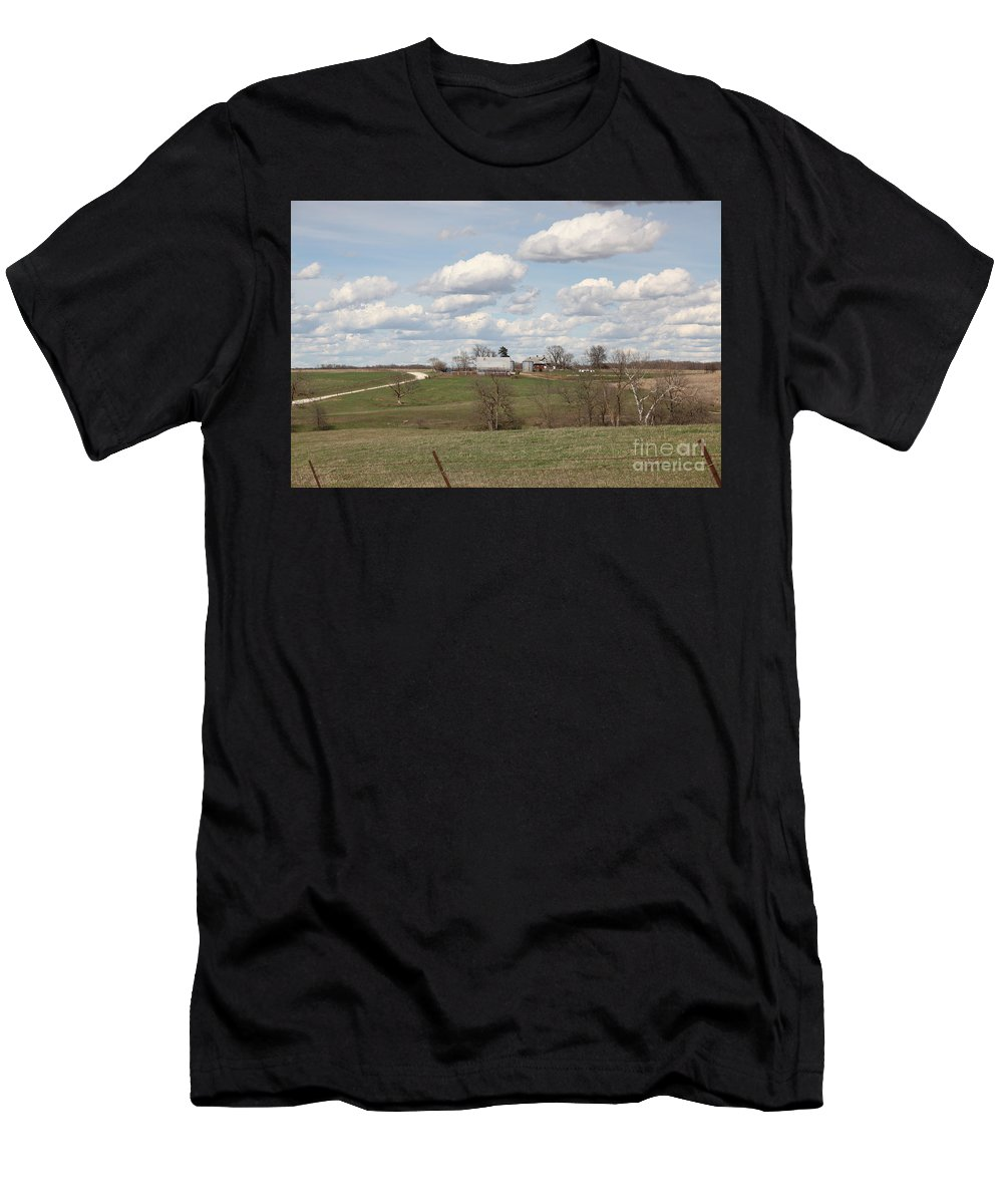 Rural Men's T-Shirt (Athletic Fit) featuring the photograph Rural Randolph County by Kathy Cornett