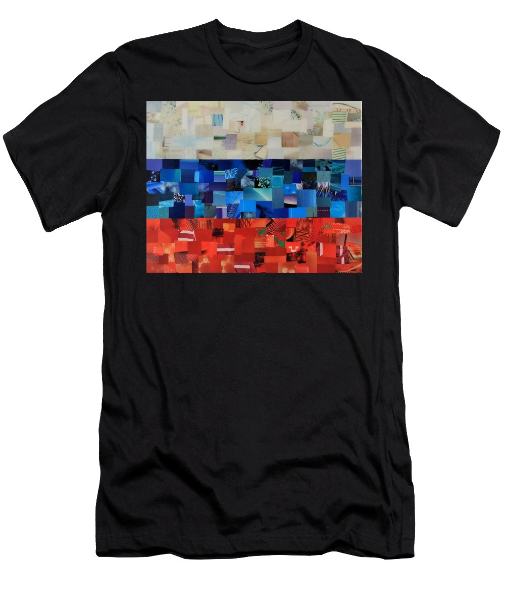 Rusia Flag Men's T-Shirt (Athletic Fit) featuring the mixed media Rusia Flag by Claudia Di Paolo