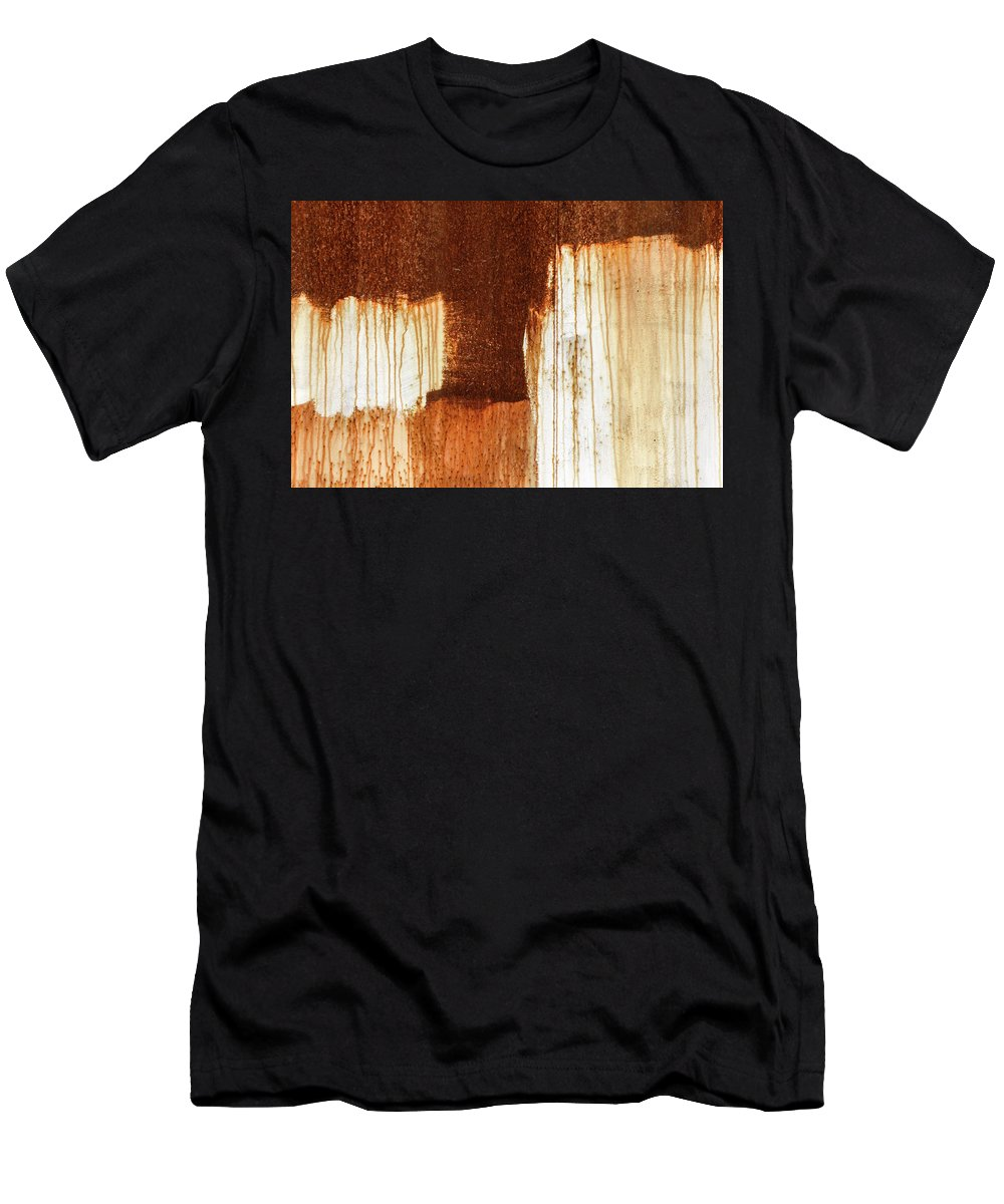 Abstract Men's T-Shirt (Athletic Fit) featuring the photograph Rust 02 by Richard Nixon
