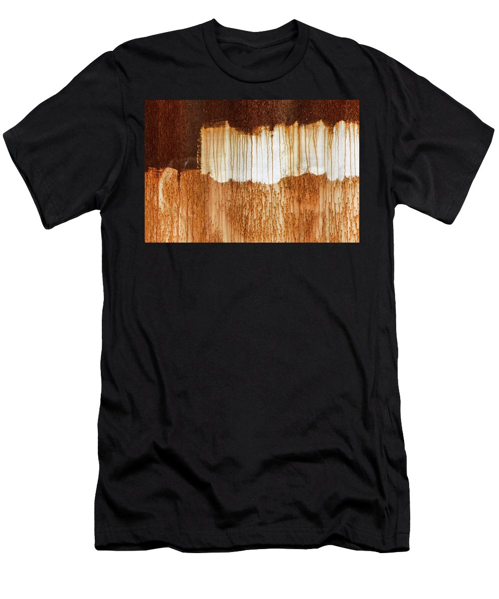 Abstract Men's T-Shirt (Athletic Fit) featuring the photograph Rust 03 by Richard Nixon