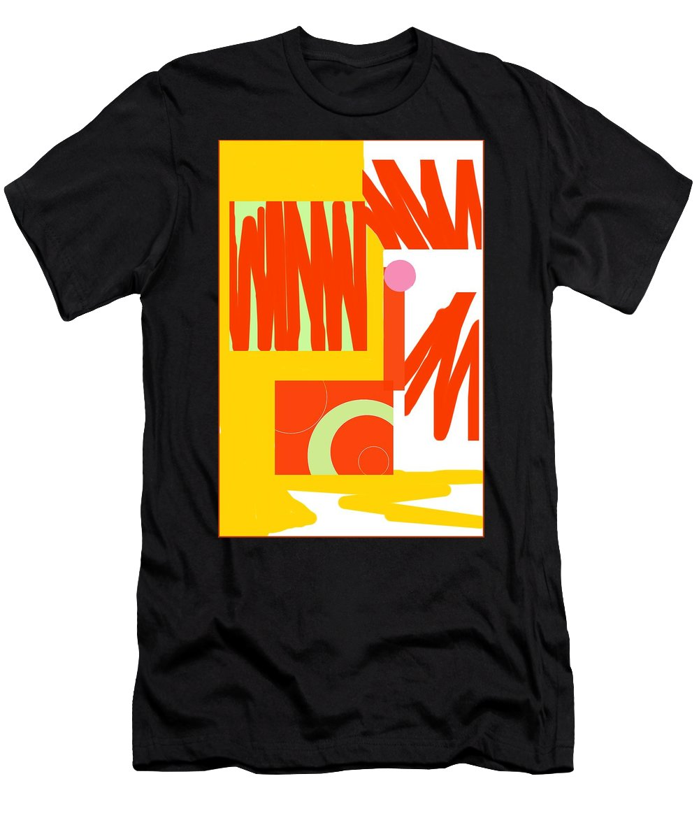 Rust.gold Men's T-Shirt (Athletic Fit) featuring the digital art Rust Gold 1 by Julia Woodman